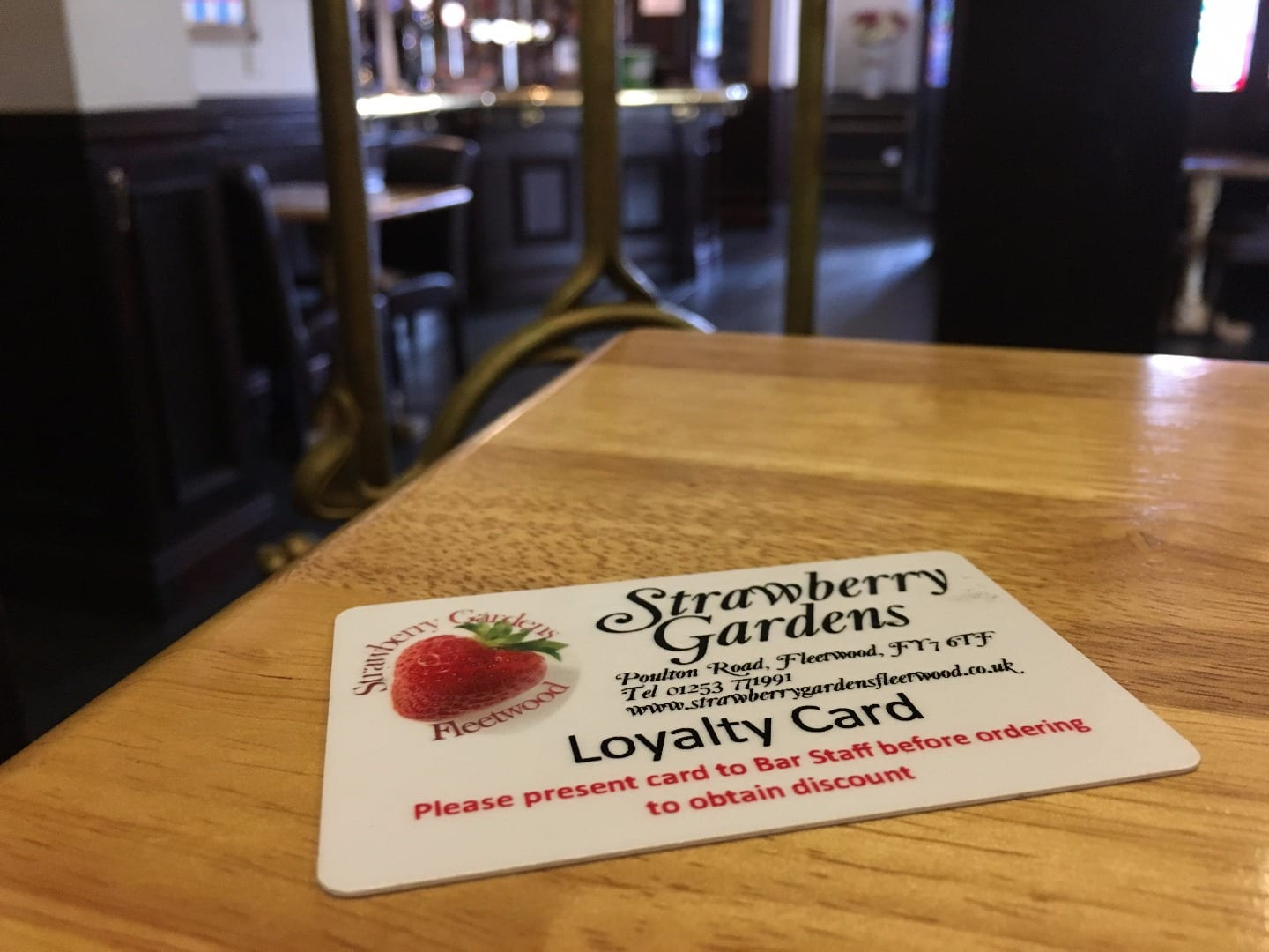 Strawberry Gardens Loyalty Card