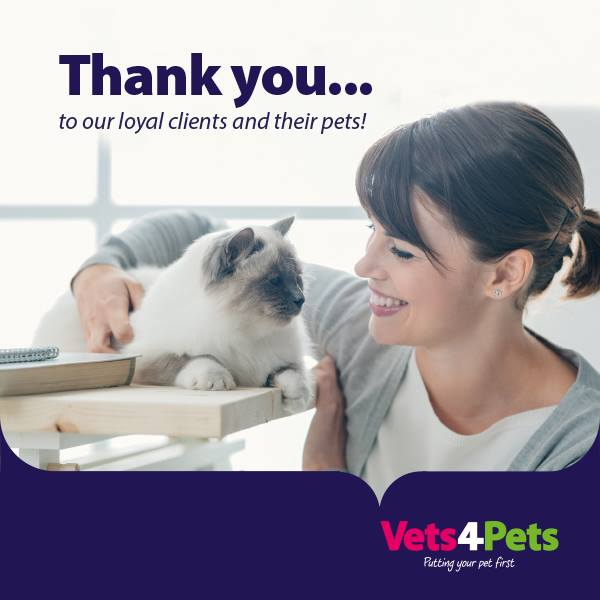 Client loyalty scheme at Vets4Pets Cleveleys