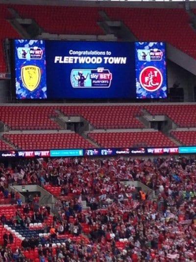 Fleetwood Town FC win at Wembley