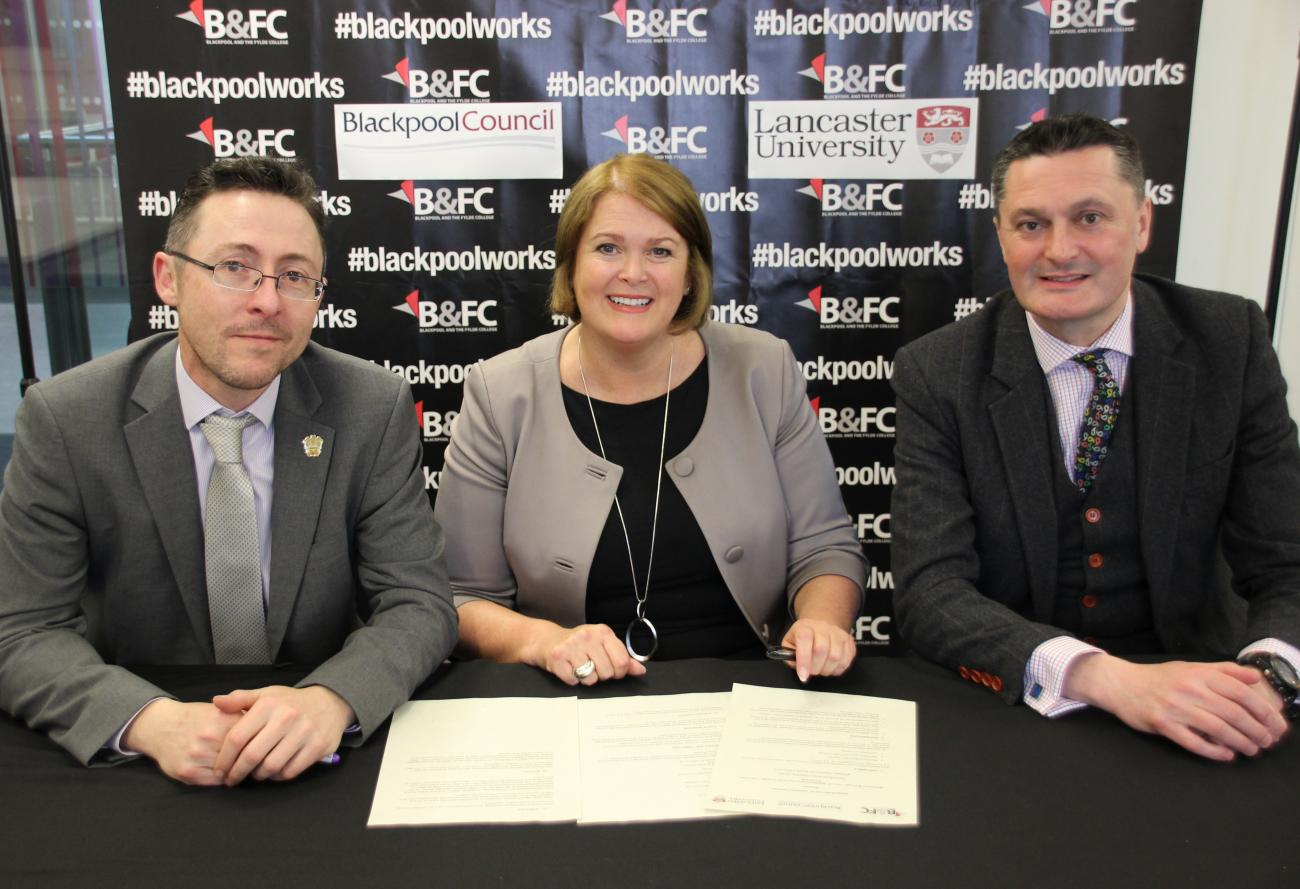 New alliance to drive improvements in health - Blackpool and the Fylde College