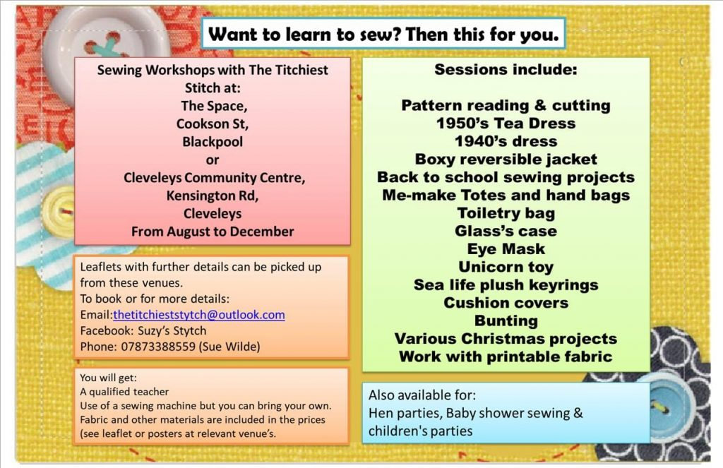Learn to Sew at Cleveleys Community Centre