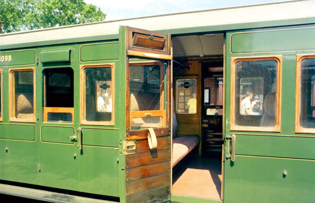 Single compartment train carriage, remembering steam trains