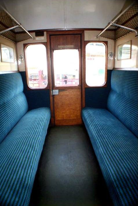 Old fashioned railway carriage, remembering steam trains