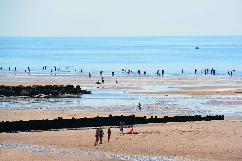 Cleveleys in summer, another one of the great Fylde Coast beaches