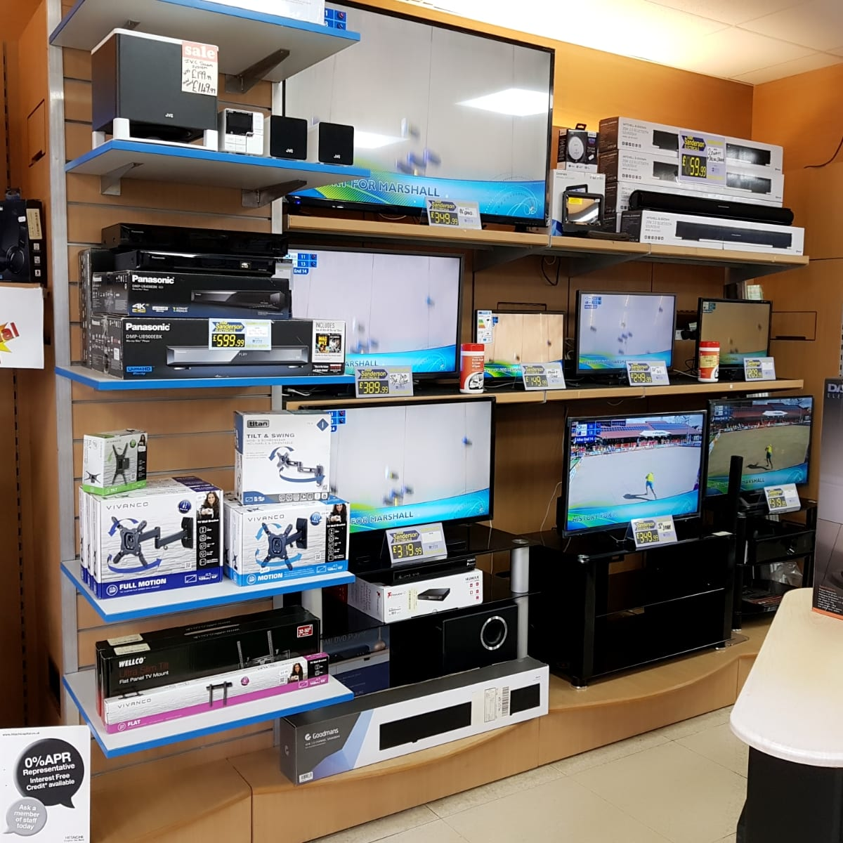 TV and audio appliances from Mike Sanderson Electricals, Fleetwood