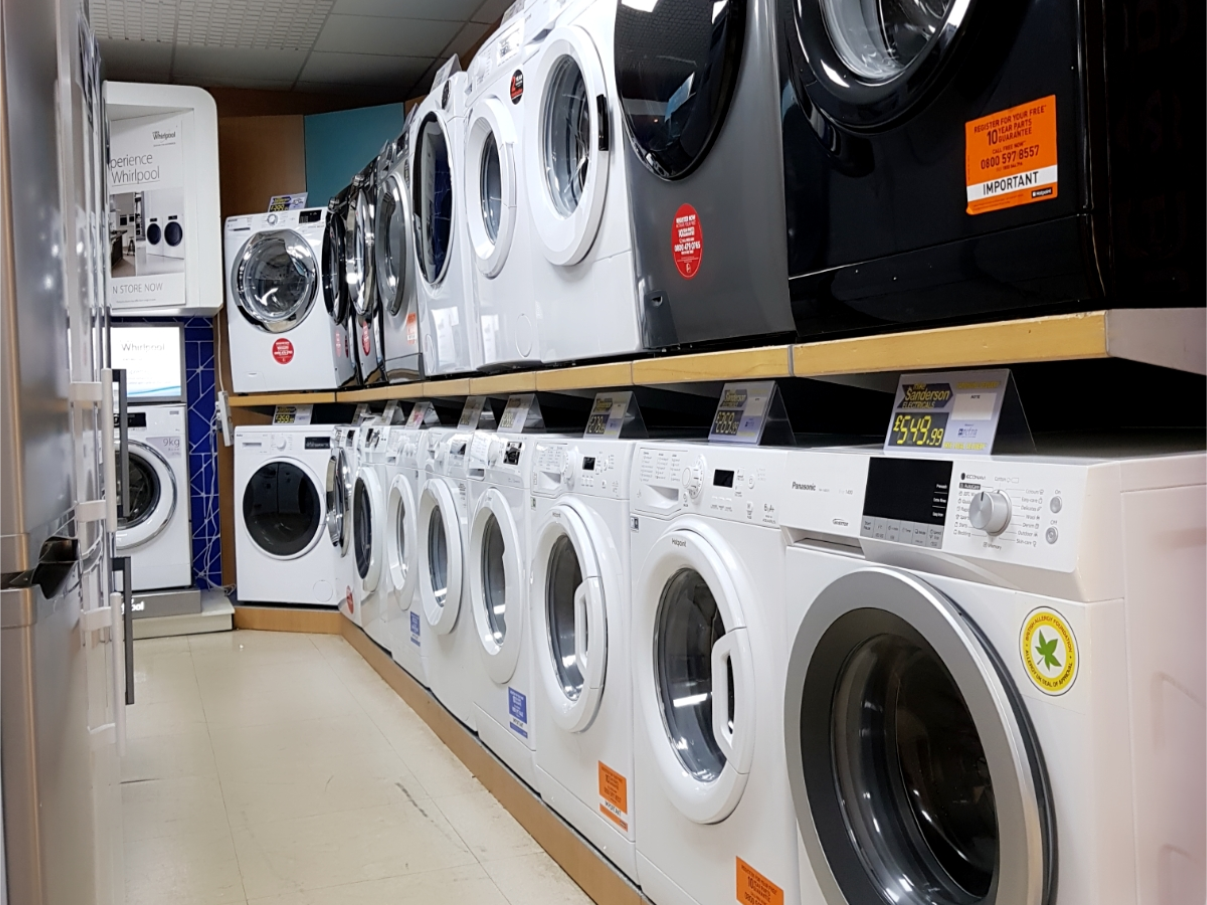 Washing machines and tumble dryers from Mike Sanderson Electricals, Fleetwood