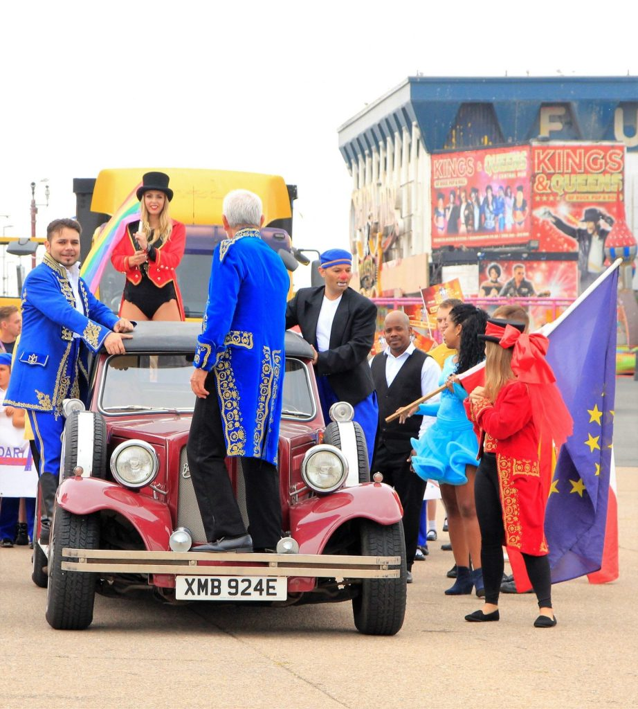 Blackpool Tower Circus Parade July 2018, photo Kate Yates