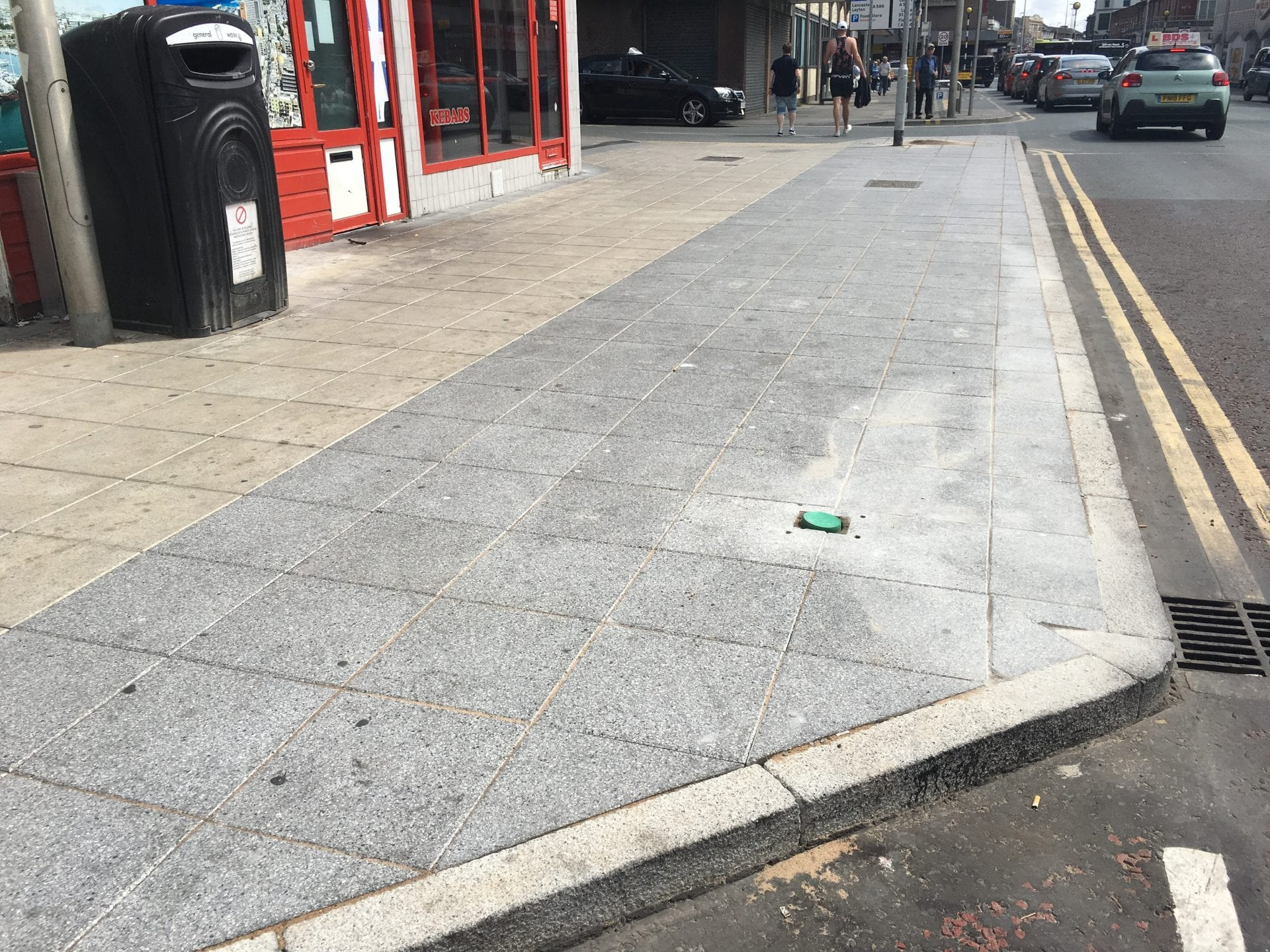 New pavements in Blackpool Town Centre