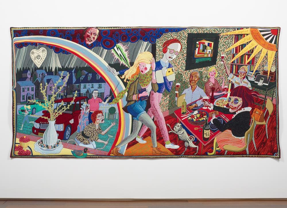 See Turner Prize winning artist Grayson Perry Exhibition at Grundy Art Gallery - the Vanity of Small Differences.