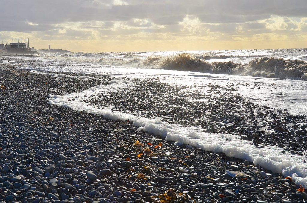 Rossall Beach at Cleveleys. Another one of the natural Fylde Coast Beaches