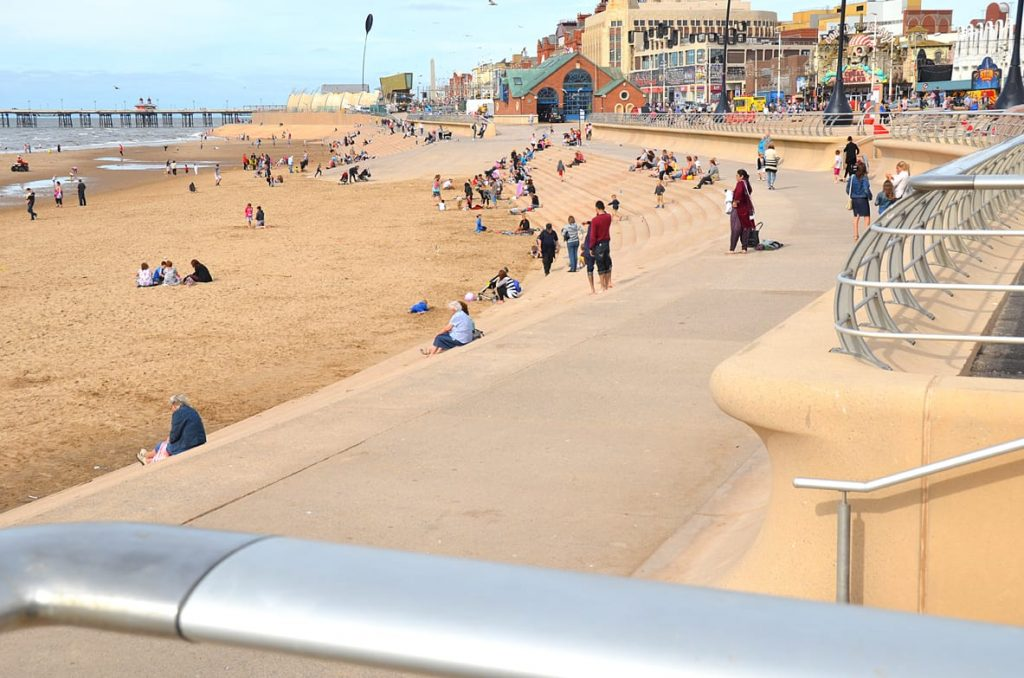 Blackpool Central Beach - it's one of the 'traditional' Fylde Coast beaches.