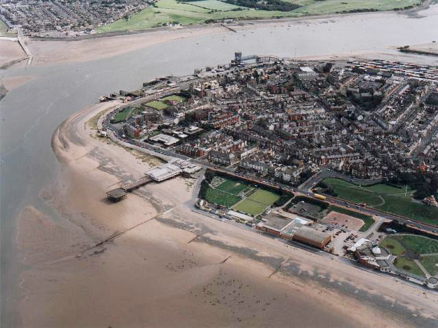 Aerial view of Fleetwood. See the Fylde Coast by drone