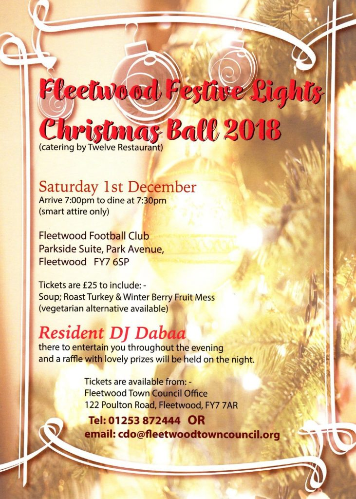 Fleetwood Festive Lights Christmas Ball with Fleetwood Town Council