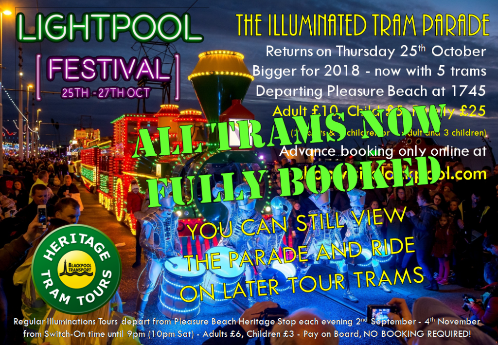 Illuminated Tram Parade with Blackpool Heritage Trams