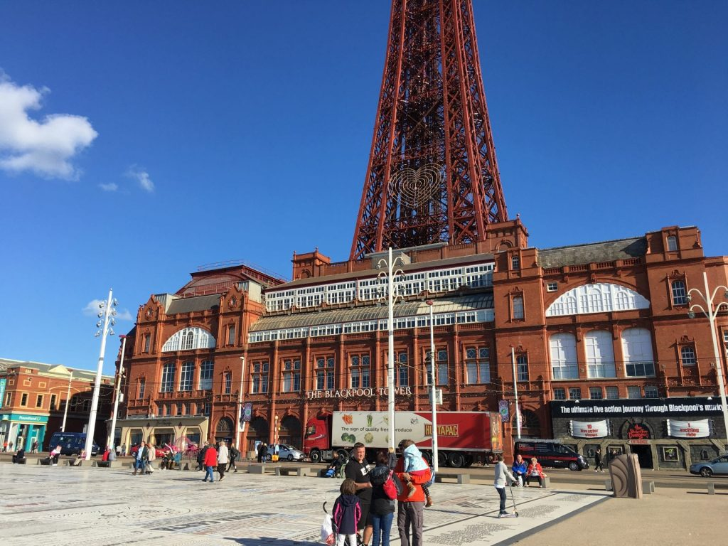 Blackpool in the sunshine, amazing lights on a Thursday afternoon