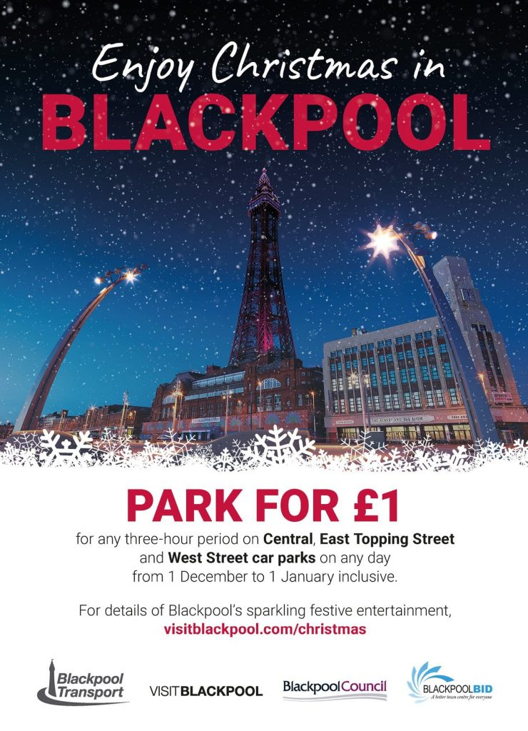 Park for £1 at Christmas in Blackpool town centre