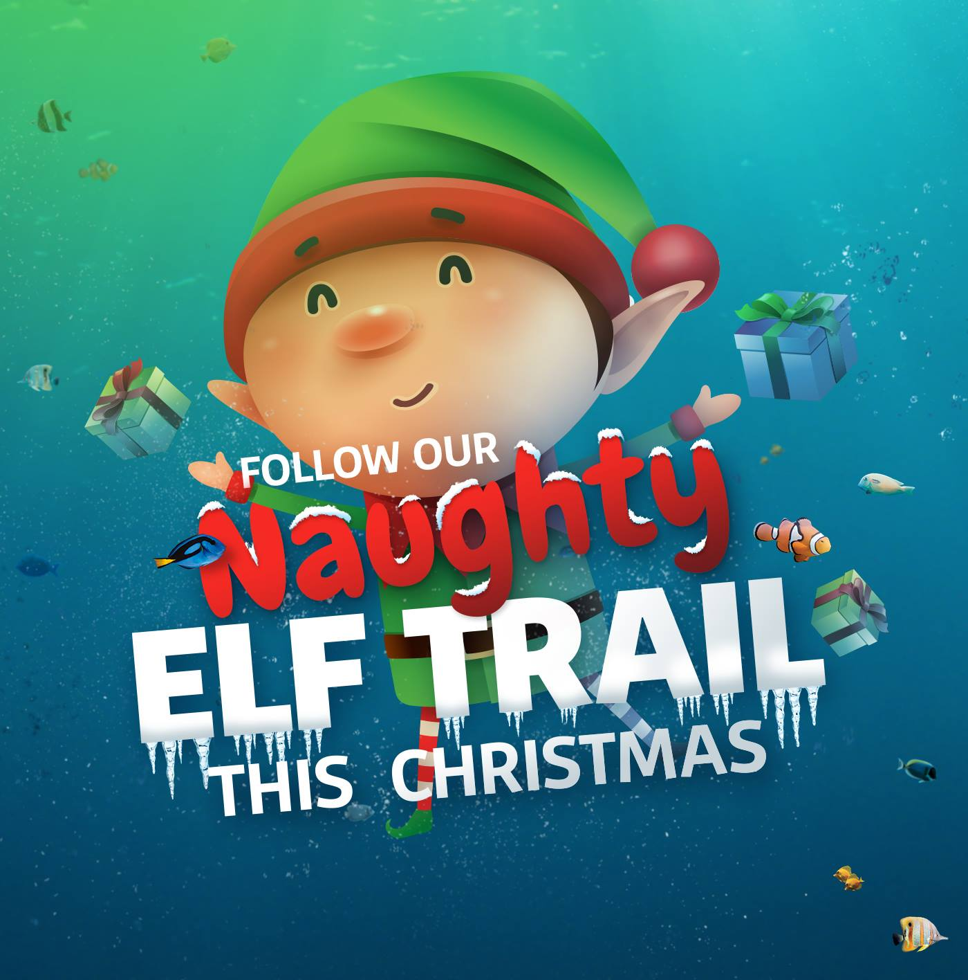 Naughty Elf Trail at SEA LIFE Blackpool