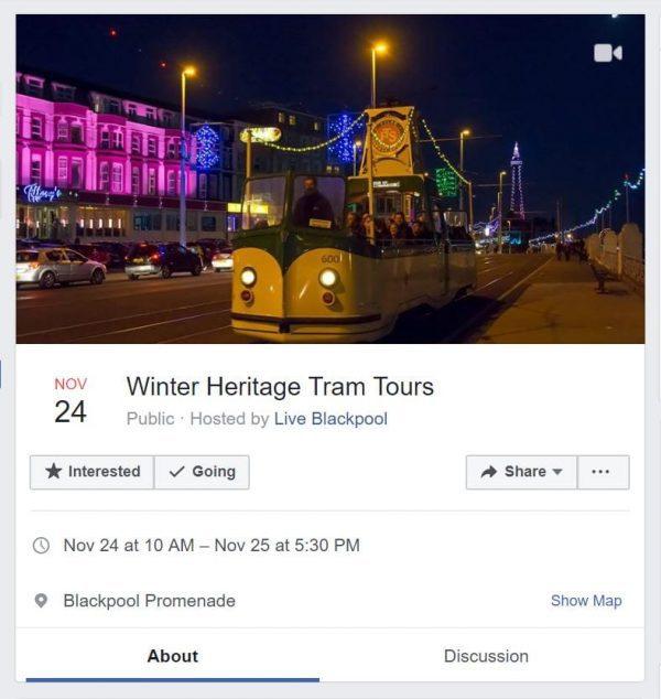 Facebook event for Visit Fylde Coast event listing