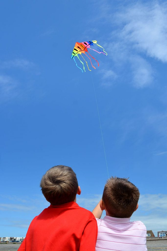 Fly a kite - Craziness of Chrissie Towers