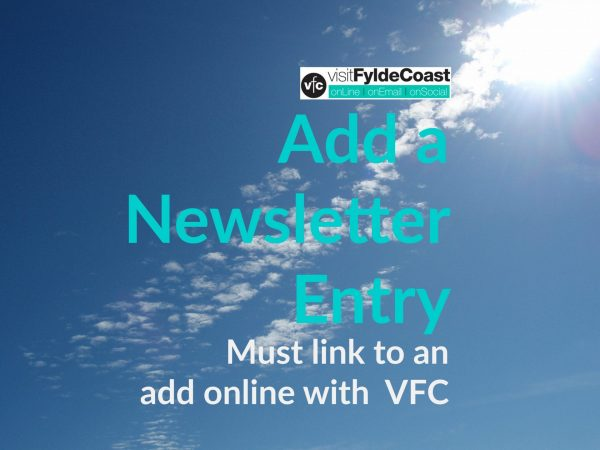 Add a newsletter entry to Visit Fylde Coast