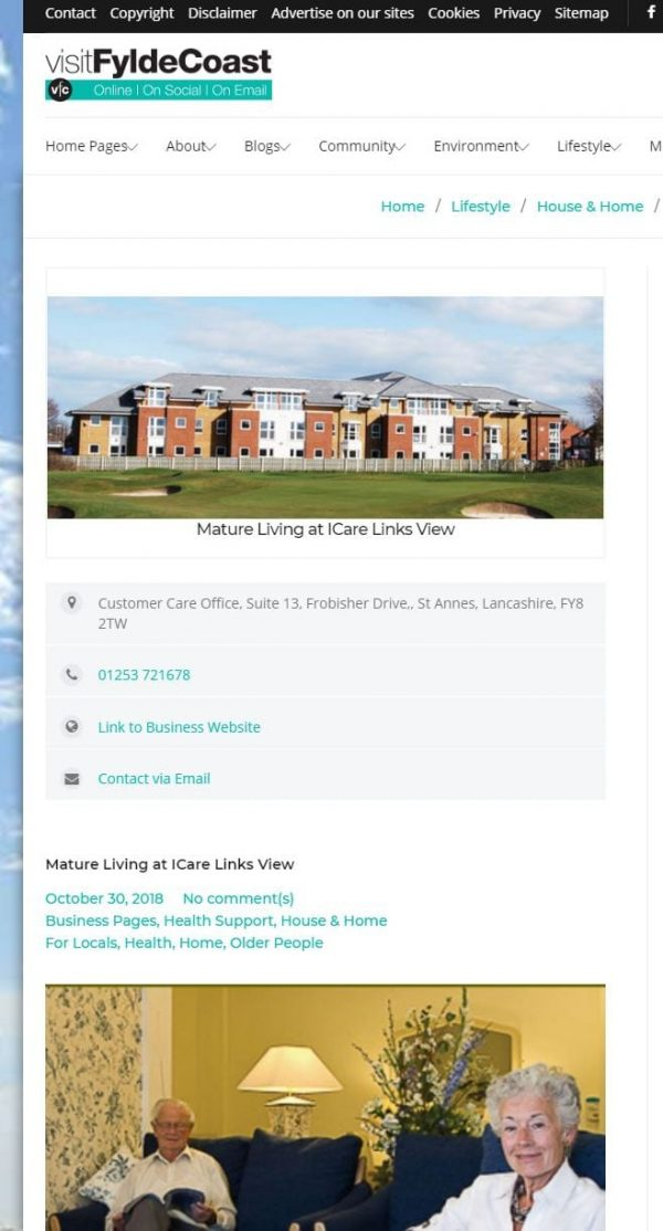 Annual Business Listing with Visit Fylde Coast