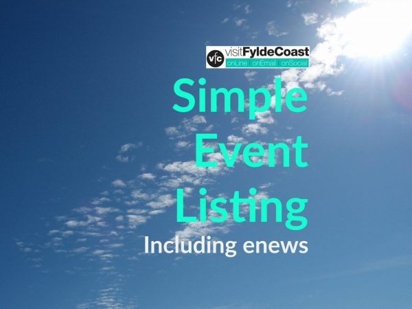 Simple Event Listing with Visit Fylde Coast