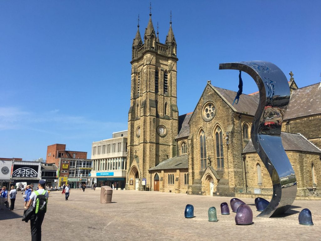 St John's Square, Blackpool. One of the Fylde Coast town centres