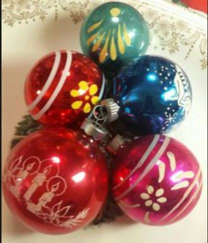 Old Christmas decorations - Vintage glass baubles