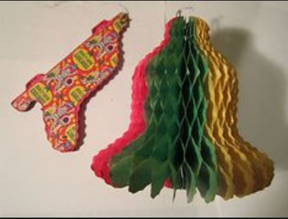 Old Christmas decorations made out of paper