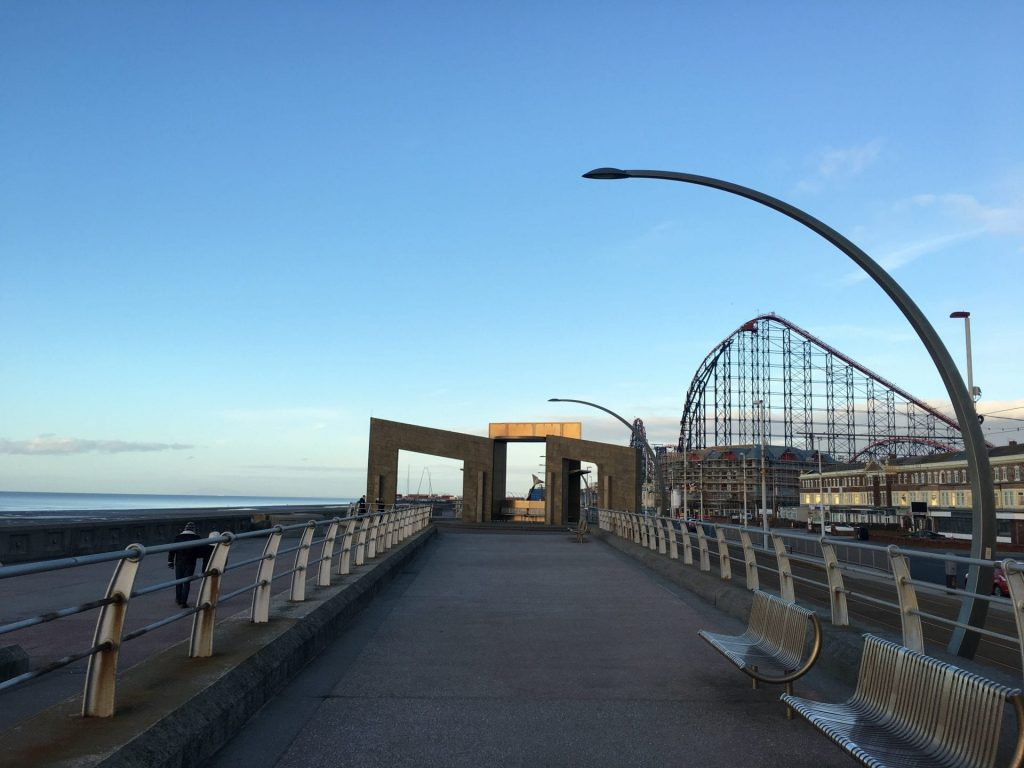 New South Promenade at Blackpool. New Year's Day